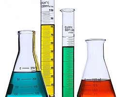 Vidraria para laboratório químico