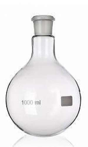 Balão de vidro para laboratório