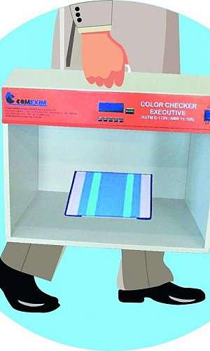 Cabine de luz para laboratório