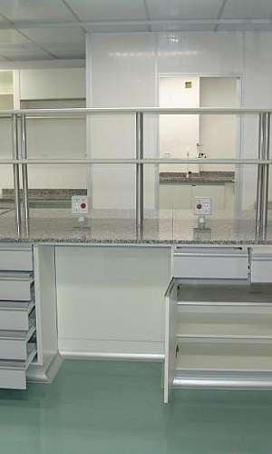 Mobiliário para laboratório de química