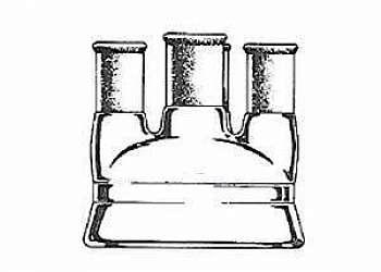 Reator químico de vidro