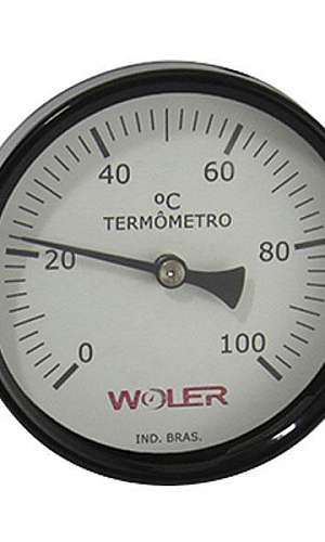 Termômetro bimetálico analógico